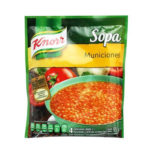 SOPA-KNORR-MUNICIONES-95-GRS.---1PZA