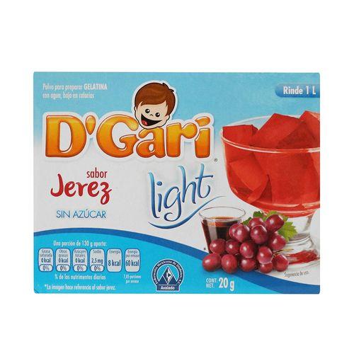 GELATINA-DGARI-LIGHT-JEREZ-20-GR.---1PZA