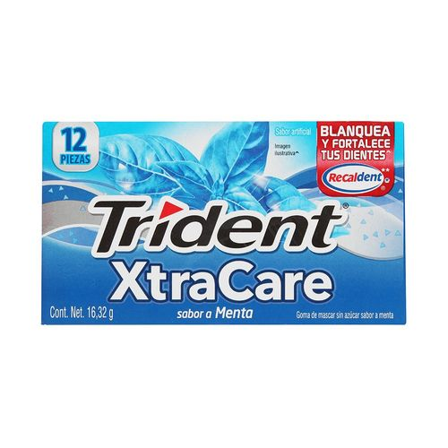 CHICLE-ADAMS-TRIDENT-XTRACARE-MENTA-1PZ