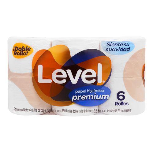 Papel-Higienico-Level-Premium-360H-6R---Level