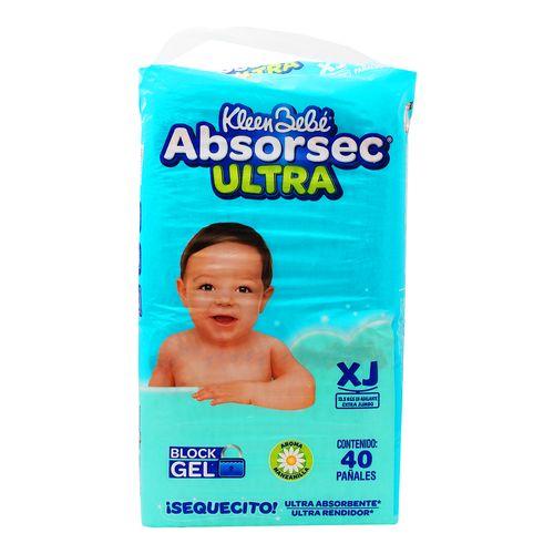 Pañal-Kleen-Bb-Absorsec-Ultra-Xj-40P---Absorsec